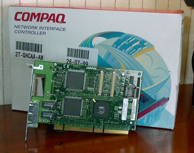 Picture of Compaq NC3131 64 bits PCI Dual 10/100 Ethernet Card